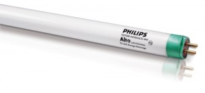 A Philips fluorescent lightbulb tube