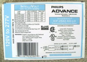 Advance Ballast Label