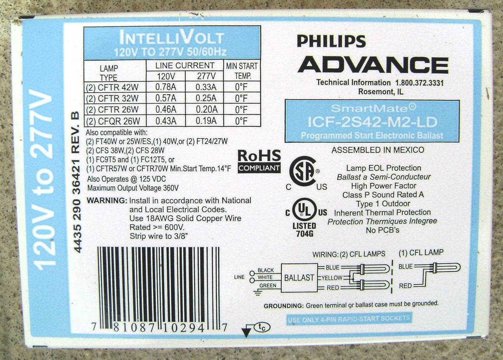 Advance    Fluorescent    Ballasts Labels 101   Advance Ballast