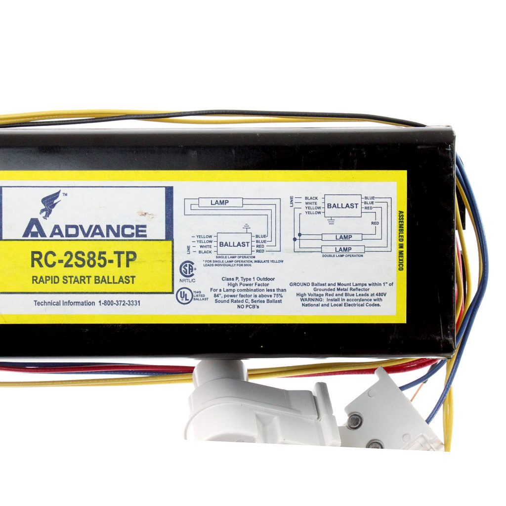 Advance RC-2S85-TP Rapid Start Ballast Label