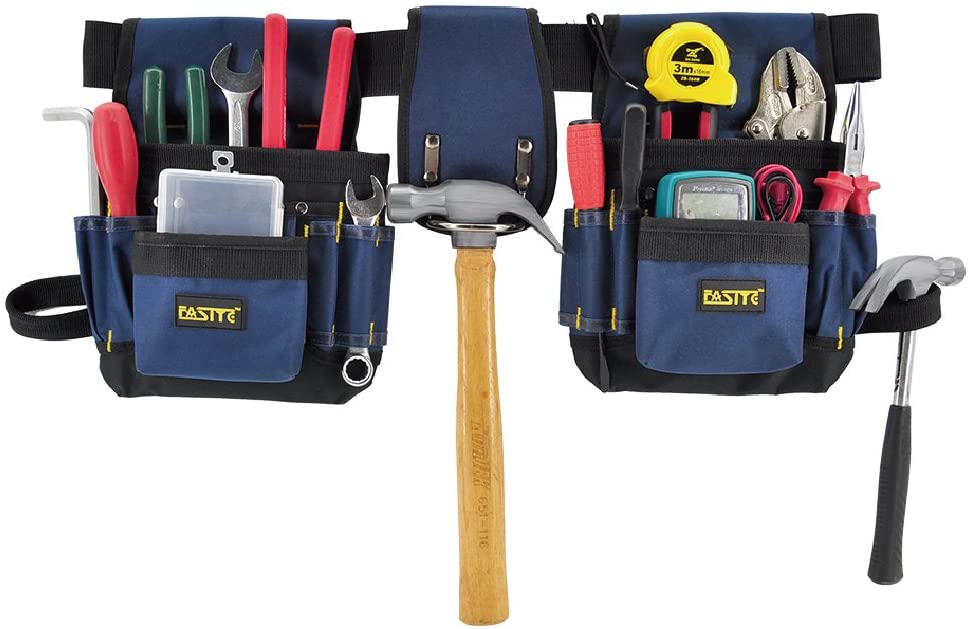 A electrician tool belt